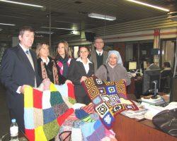 Donamos mantas al Ctro Beata Clara Bosatta (Sta Fe)