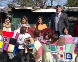 """Reconquista: mantas para el barrio """"El Pepito"""""""