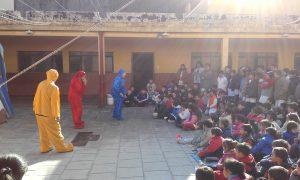 """""""El duende verde"""" en la escuela de San Benito"""