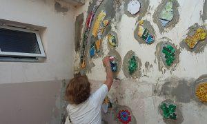 Estamos terminando el mural en el Ctro de Salud Centenario