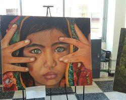 Muestra de arte en la sucursal Santo Tomé